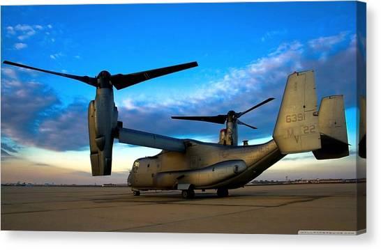 Osprey Canvas Print - Bell Boeing V-22 Osprey by Mariel Mcmeeking