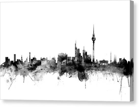 Berlin Canvas Print - Berlin Germany Skyline by Michael Tompsett