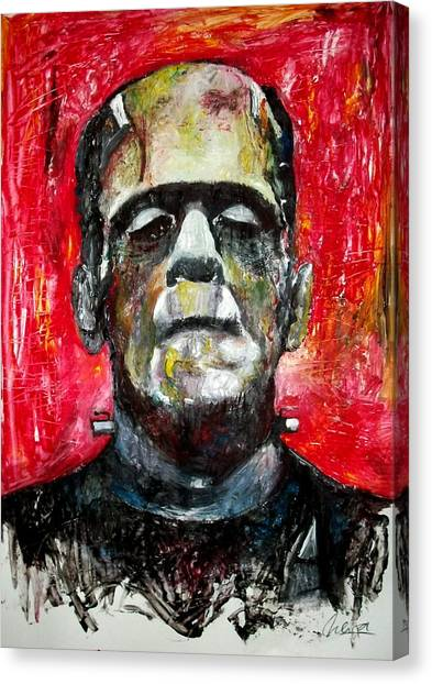 Grinch Canvas Print - Boris Karloff - Frankenstein by Marcelo Neira