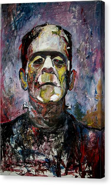 Grinch Canvas Print - Boris Karloff Frankenstein Monster by Marcelo Neira