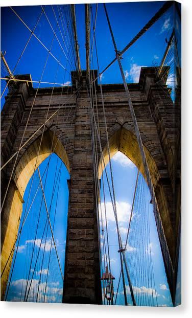 Brooklyn Bridge Canvas Print by Patrick  Flynn