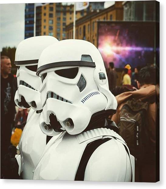 Star Wars Canvas Print - Stormtroopers by Si Robinson