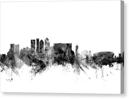Cape Town Canvas Print - Cape Town South Africa Skyline by Michael Tompsett