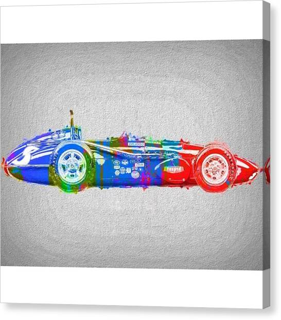 Ford Canvas Print - #car #sportscar #racecar #nascar by David Haskett II