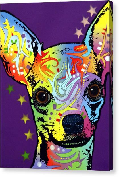Chihuahua Warrior Canvas Print by Dean Russo Art