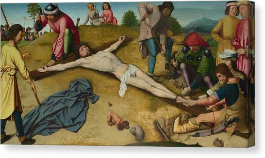 Early Christian Art Canvas Print - Christ Nailed To The Cross by Gerard David