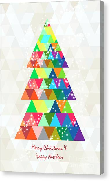 Post-modern Art Canvas Print - Christmas by Mark Ashkenazi
