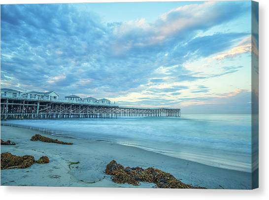 Cloud Cover Over Crystal Pier Canvas Print
