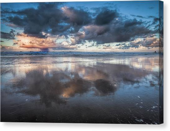 Coastal Reflections Canvas Print by Andrew Soundarajan