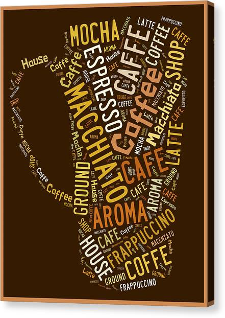 Green Canvas Print - Coffee Menu Collection by Marvin Blaine