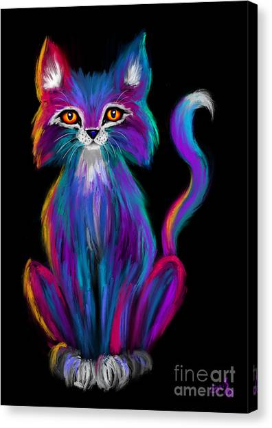 Canvas Print - Colorful Cat by Nick Gustafson