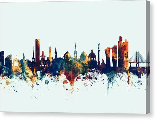 Danish Canvas Print - Copenhagen Denmark Skyline by Michael Tompsett