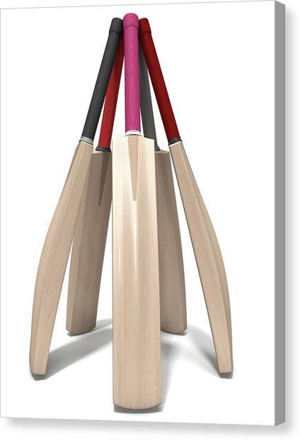 Cricket Club Canvas Print - Cricket Bat Circle by Allan Swart