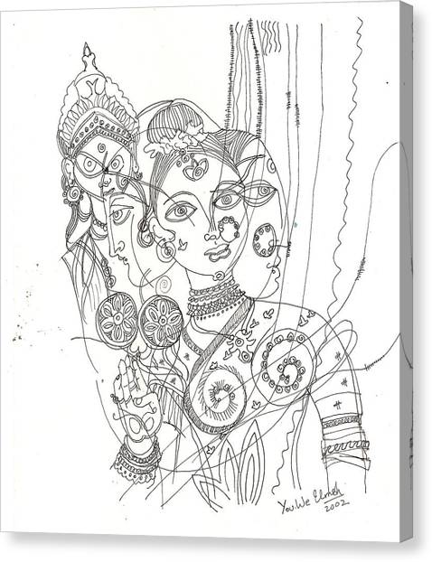 4 Deities Canvas Print by Umesh U V