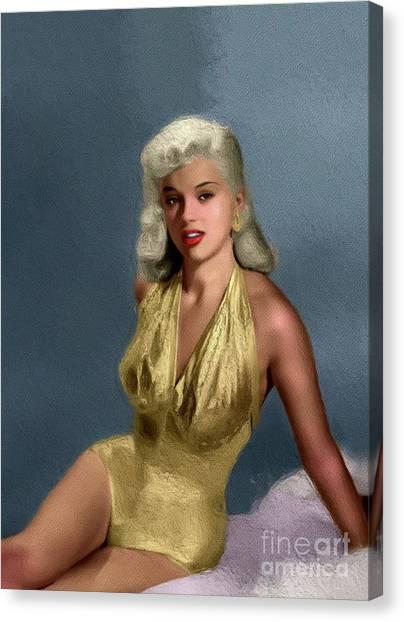 Dor Canvas Print - Diana Dors, Vintage Movie Star by John Springfield