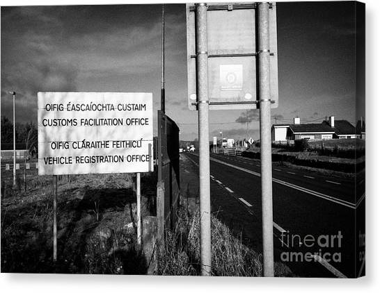 Brexit Canvas Print - Disused Irish Customs Office Near The Irish Border Between Northern Ireland And Republic Of Ireland by Joe Fox
