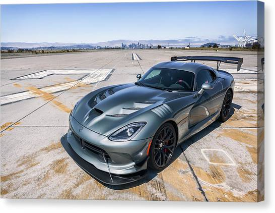 Canvas Print featuring the photograph #dodge #acr #viper by ItzKirb Photography