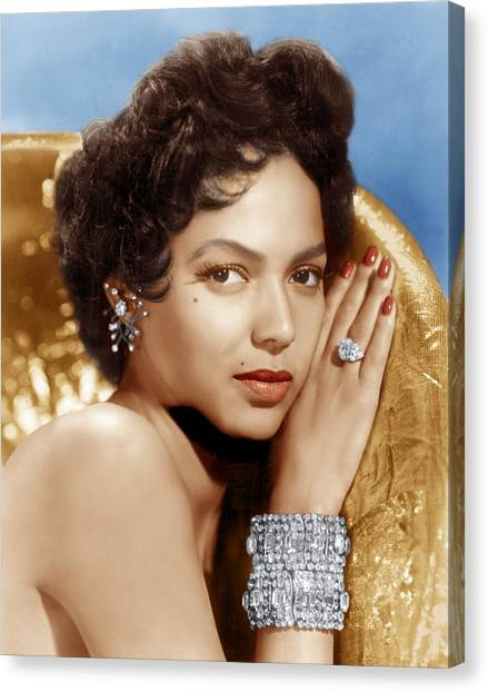 Beauty Mark Canvas Print - Dorothy Dandridge, Ca. 1950s by Everett
