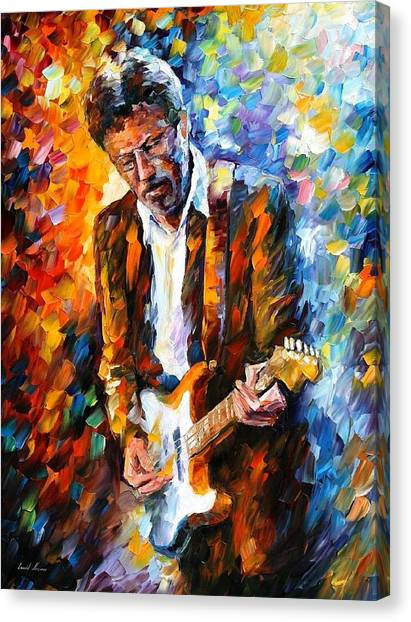 Bands Canvas Print - Eric Clapton by Leonid Afremov