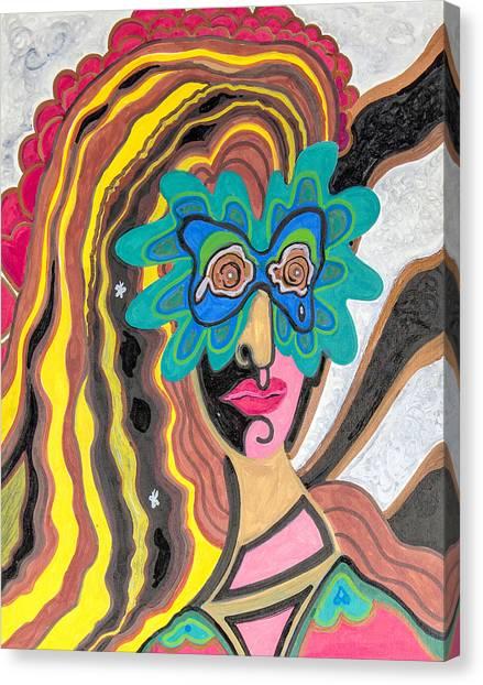 4 Faces Of Laurel - I Canvas Print