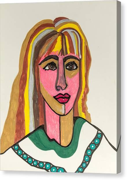 4 Faces Of Laurel - II Canvas Print