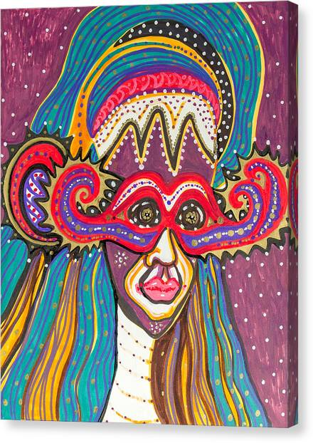 4 Faces Of Laurel - IIi Canvas Print