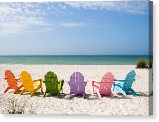 Beach Resort Canvas Print - Florida Sanibel Island Summer Vacation Beach by ELITE IMAGE photography By Chad McDermott