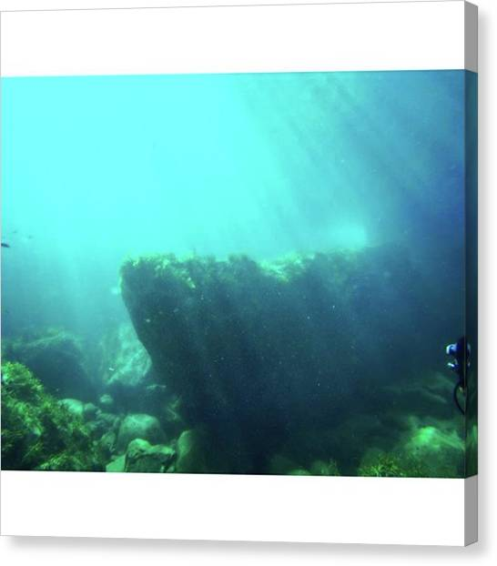 Underwater Caves Canvas Print - Good by Shozo Sadanari