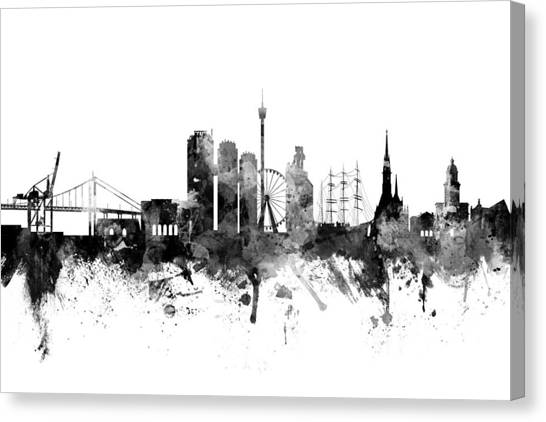 Swedish Canvas Print - Gothenburg Sweden Skyline by Michael Tompsett