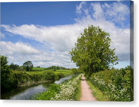 Grand Western Canal Canvas Print