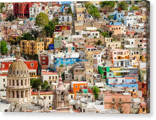 Rights Managed Images Canvas Print - Guanajuato, Mexico. by Rob Huntley
