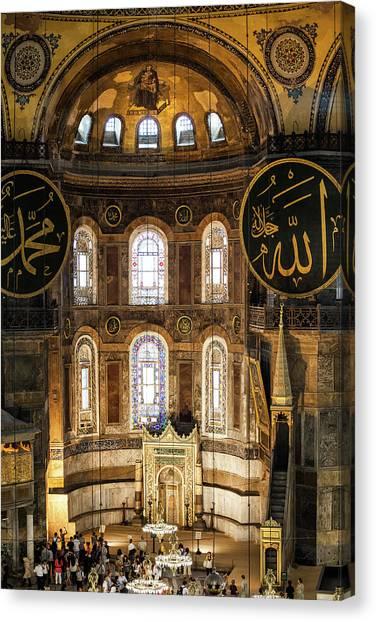 Byzantine Canvas Print - Hagia Sophia Interior by Artur Bogacki