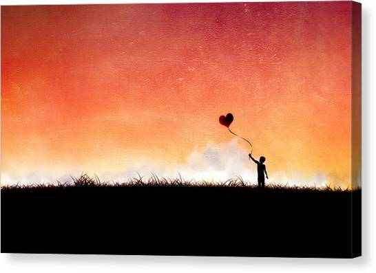 Ticks Canvas Print - Heart by Maye Loeser