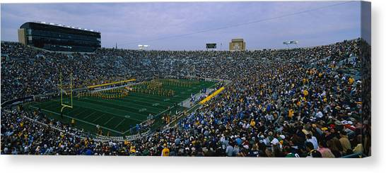 Notre Dame University Canvas Print - High Angle View Of A Football Stadium by Panoramic Images