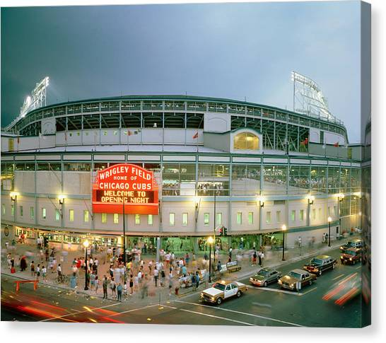 Wrigley Field Canvas Print - High Angle View Of Tourists by Panoramic Images