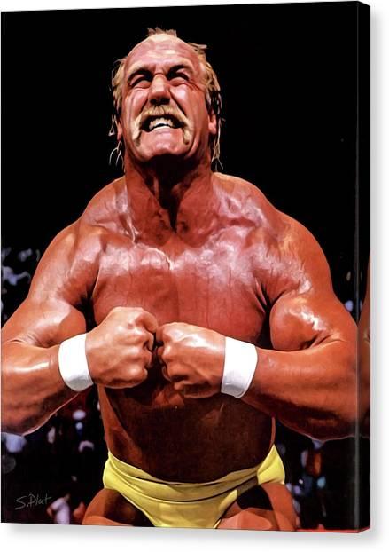 Hulk Hogan Canvas Print - Hulk Hogan by Sebastian Plat