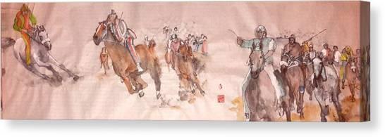 Il Palio Unrolled Canvas Print