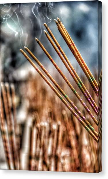 Hong Kong Canvas Print - Incense by Lorelle Phoenix