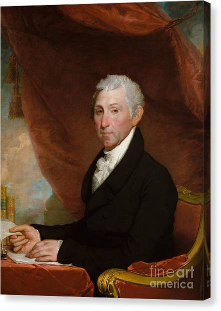 Republican Politicians Canvas Print - James Monroe by Gilbert Stuart