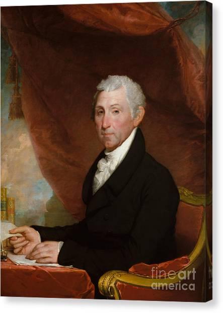 Presidential Portrait Canvas Print - James Monroe by Gilbert Stuart