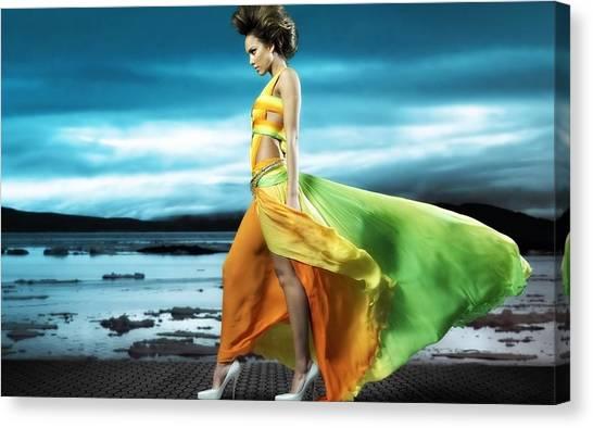 Jessica Alba Canvas Print - Jessica Alba by Maye Loeser