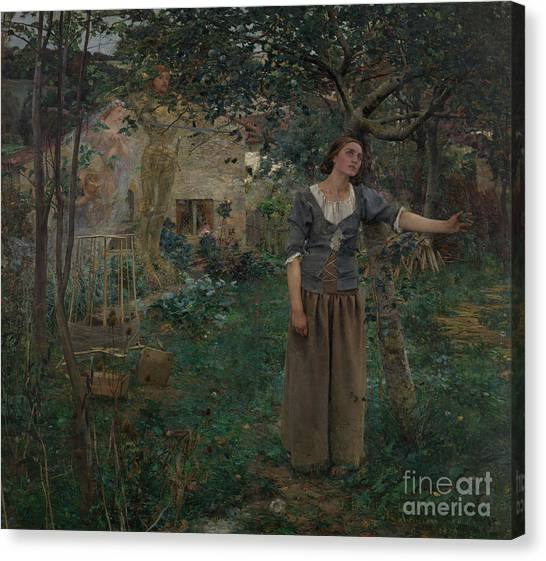 Apparition Canvas Print - Joan Of Arc by Jules Bastien-Lepage