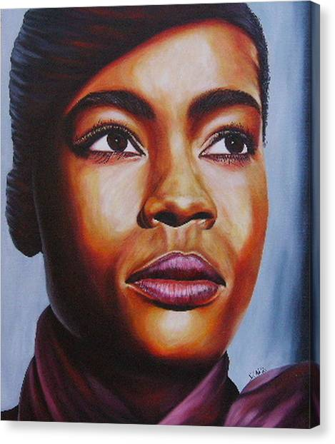 Josie Canvas Print by Shahid Muqaddim