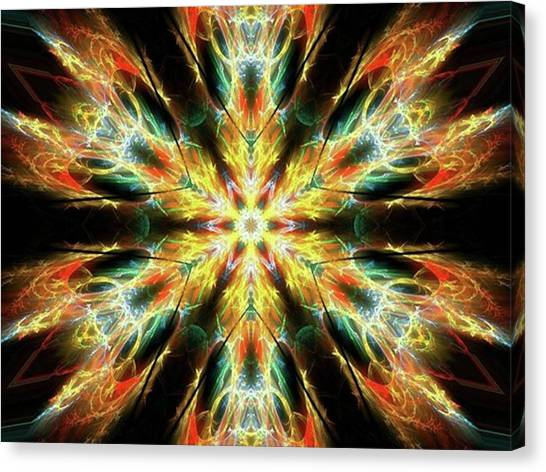 #kaleidoscope #mandala #art #digitalart Canvas Print by Michal Dunaj