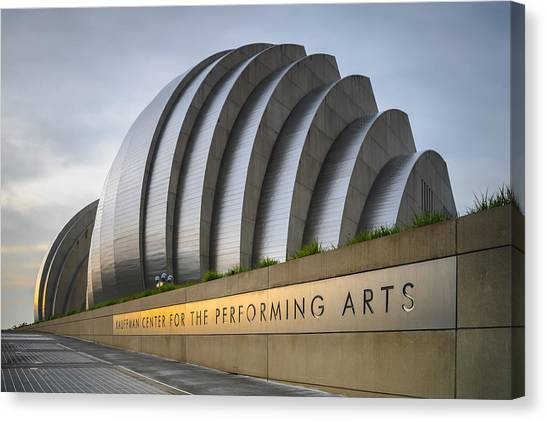 City Sunrises Canvas Print - Kauffman Center by Ryan Heffron