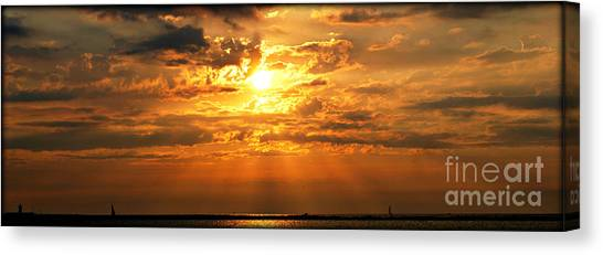 Lake Erie Sunset Canvas Print