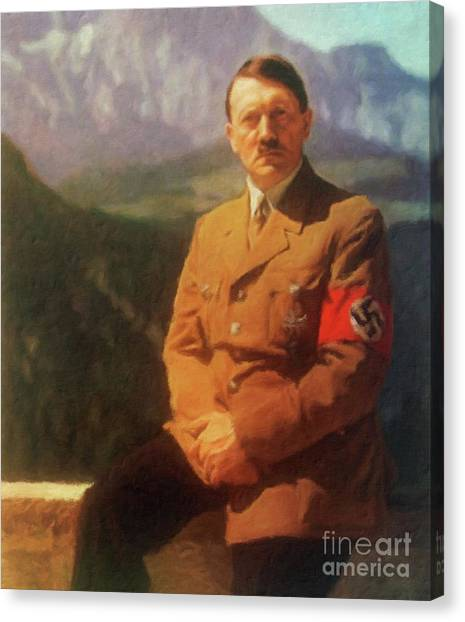 Wwi Canvas Print - Leaders Of Wwii - Adolf Hitler by John Springfield