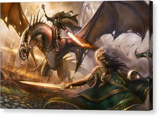 Saddles Canvas Print - Lord Of The Rings by Maye Loeser