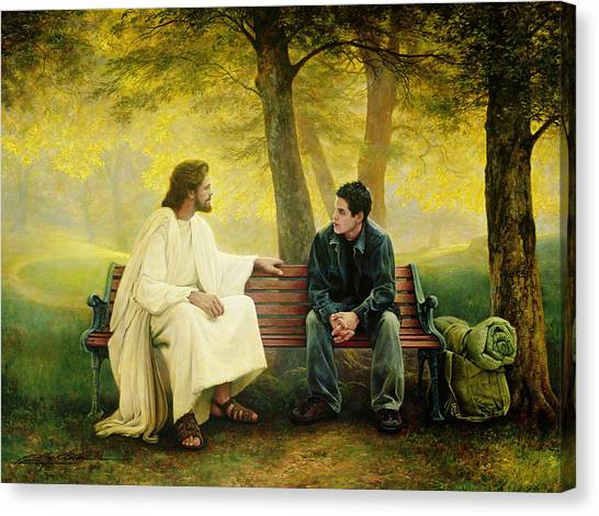 Church Canvas Print - Lost And Found by Greg Olsen