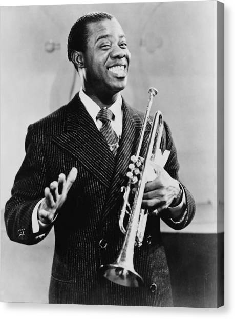 Trumpets Canvas Print - Louis Armstrong 1901-1971, African by Everett